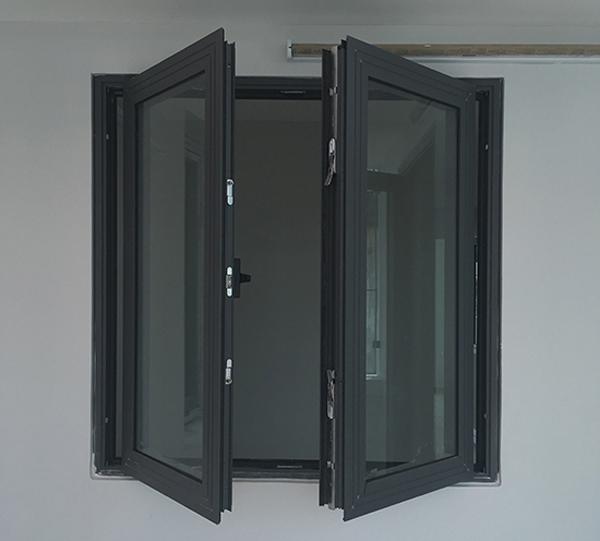 Cửa khung nhôm kính cao cấp Xingfa màu cafe cháy