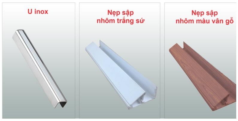 Nẹp khung vách kính Tân Việt Phát