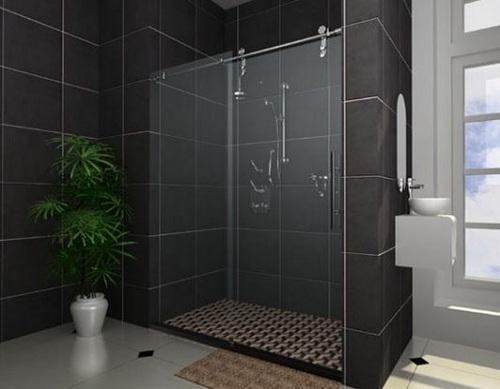 Vách kính phòng tắm cửa mở trượt