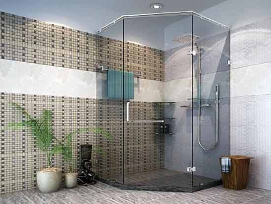 Vách kính phòng tắm mo quay goc 135 độ