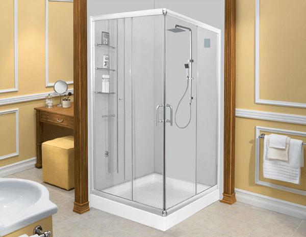 Vách kính phòng tắm mo quay goc 90 độ